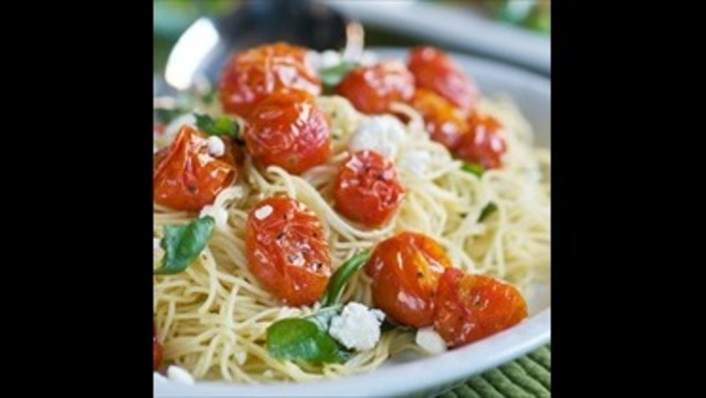 Roasted Tomato Basil and Feta Pasta