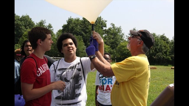 Rochester STEM Students Launch Weather Balloon