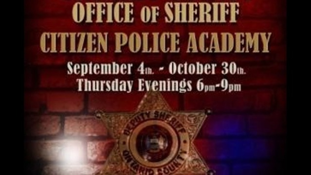 Ontario County Sheriff's to Hold 6th Annual Citizens' Police Academy