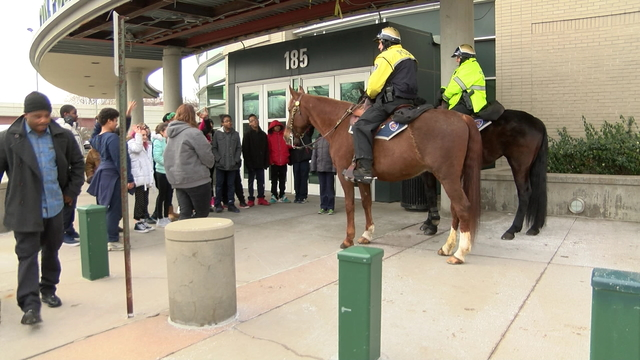 Students learn about careers in law enforcement