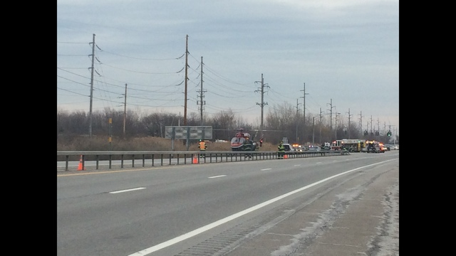 Accident closes down Route 104 West in Webster Monday afternoon