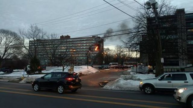 Crews respond to fire at apartments on East Avenue