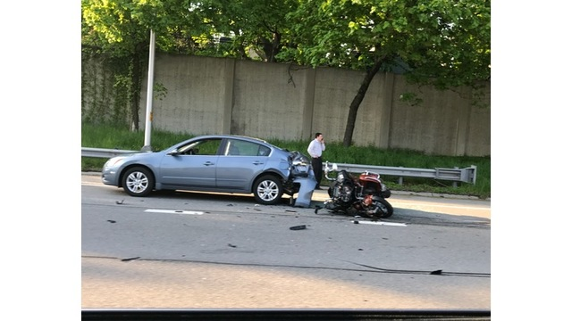 Serious accident involving motorcycle on I490 West