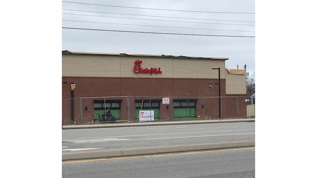 Signage up at Chick-Fil-A location in Greece