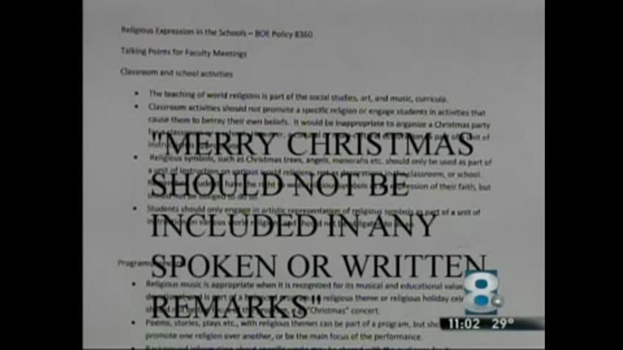 School District Bans The Phrase Merry Christmas