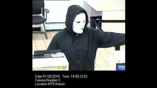 Bank robber sought in Wayne County