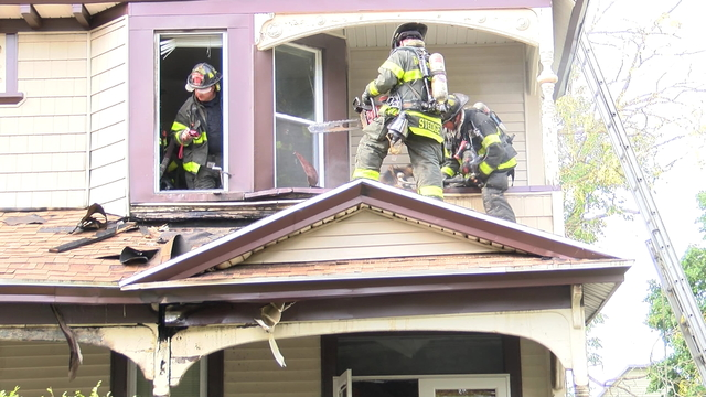 Two people displaced after house fire on Alexander Street