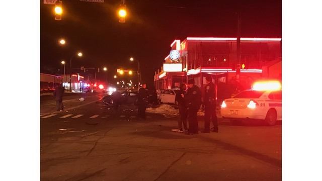 Car crash on Atlantic Avenue and Culver Road