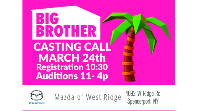 NEWS 8 WROC BIG BROTHER AUDITIONS