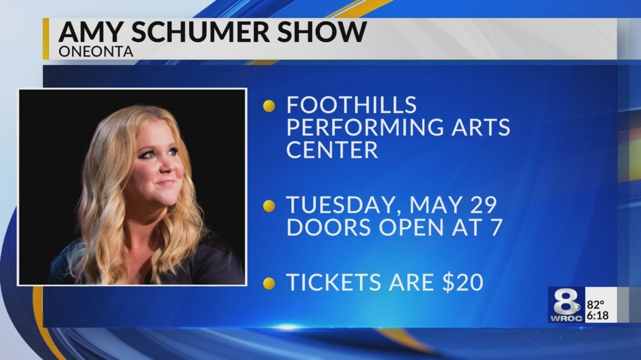 amy schumer to perform at foothills performing arts center