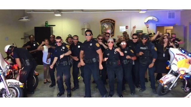 Norfolk PD's 'Uptown Funk' lip sync goes viral