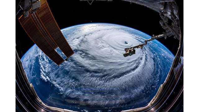 ISS captures images of 'enormous' Hurricane Florence