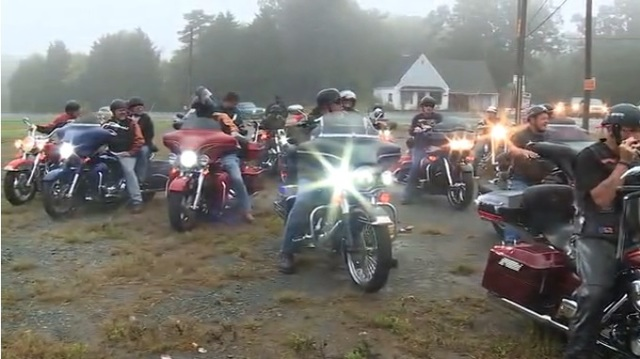 North Carolina bikers escort legally blind teen to school after bullying incident