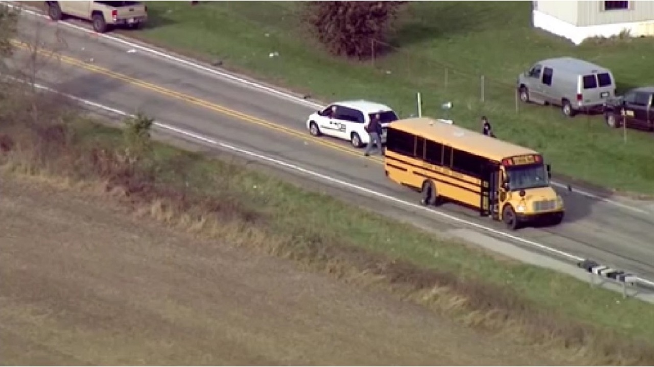 Police arrest driver after 3 siblings killed at Indiana bus stop