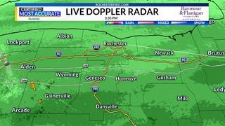 WATCH: Live Doppler radar as snowstorm drops flakes on