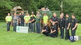 Students build and donate playhouse for Webster boy who has leukemia